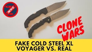 "Fake Cold Steel XL Voyager vs. Real Comparison ""Clone Wars"""
