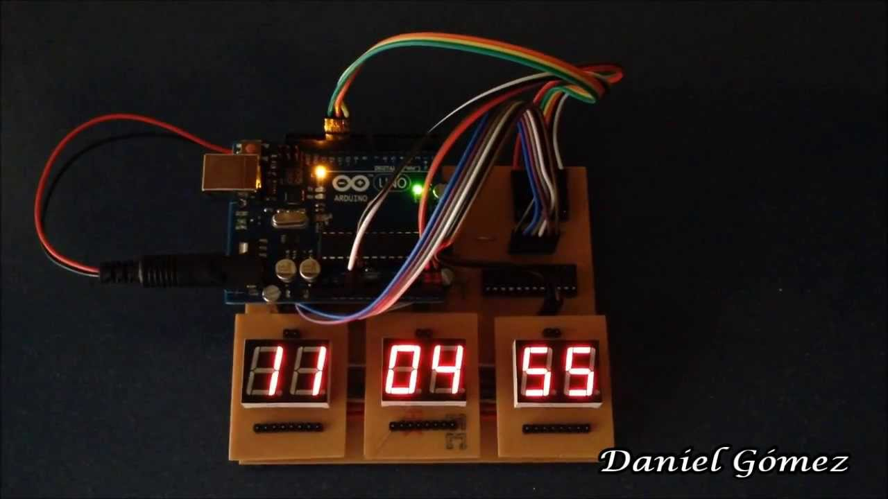 Reloj digital de dígitos con arduino final youtube