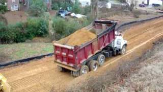 Dumping a load of dirt