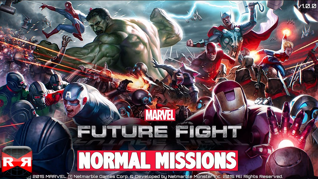 MARVEL Future Fight (By Netmarble Games) - iOS / Android - Normal Missions Gameplay
