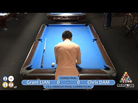 CueSoc 2017s2 14.1 Straight Pool Competition Final - Grant LIAN vs. Chris DAM