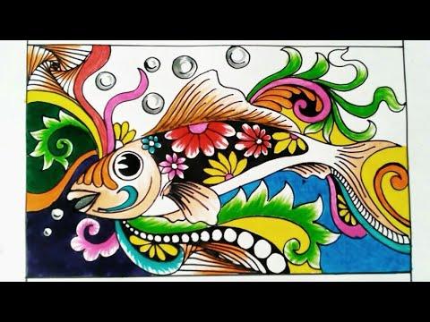 Menggambar Ragam Hias Flora Dan Fauna Yang Indah Youtube
