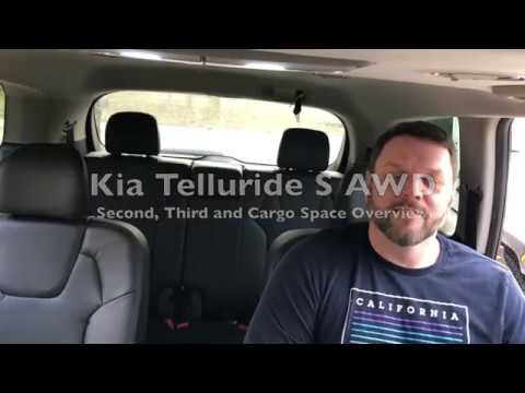 Kia Telluride S - Rear Seats and Cargo Space Overview
