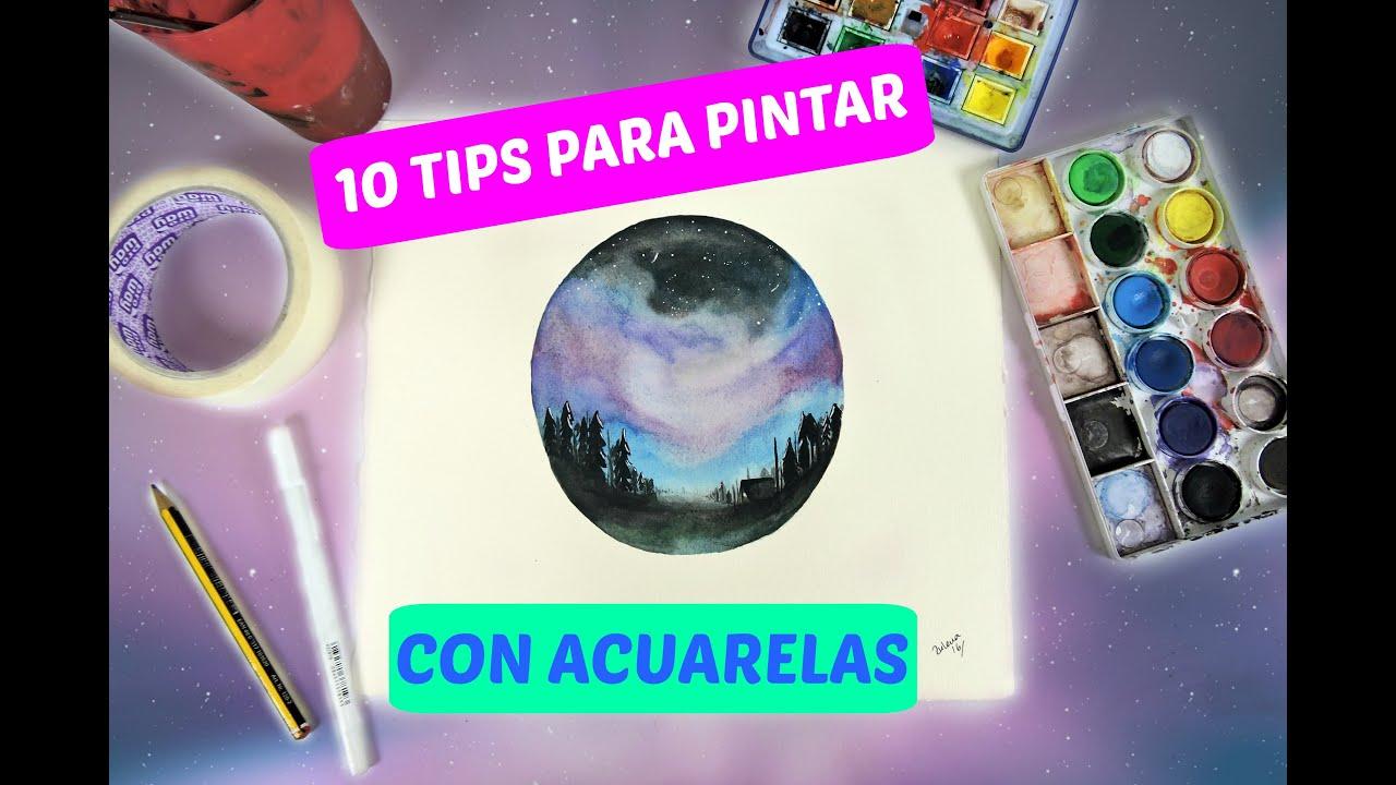 10 tips para pintar con acuarelas como pintar una aurora - Consejos para pintar ...