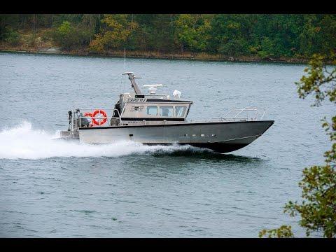 Shipsforsale Sweden aluminium workboat Capo 11J for sale.