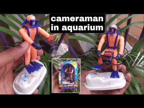 Cameraman In Aquarium   Decorative Item For Aquarium   Aquarium Toy   Fish Tank Decorative Items
