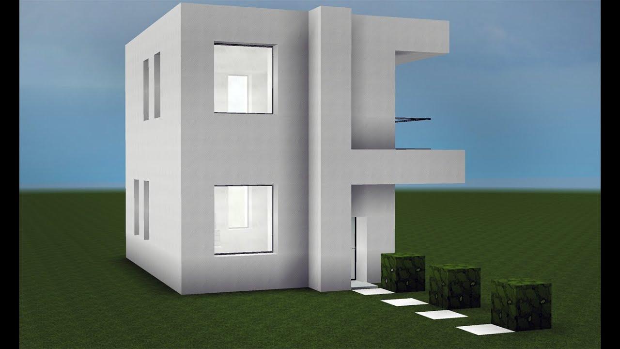 Minecraft como fazer uma pequena casa moderna youtube for Casa moderna y pequena en minecraft