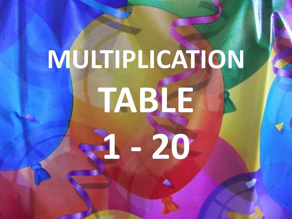Printables 1to20table multiplication table 1 to 20 interactive video youtube