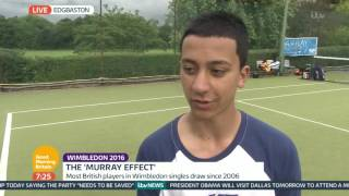 Andy Murray Inspires Young British Tennis Players | Good Morning Britain