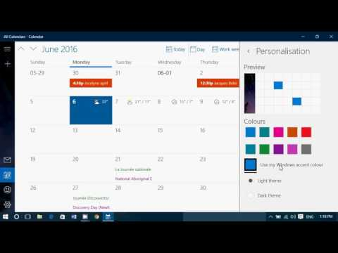 tips and trips How to Personalize the Windows 10 calendar app colors and theme