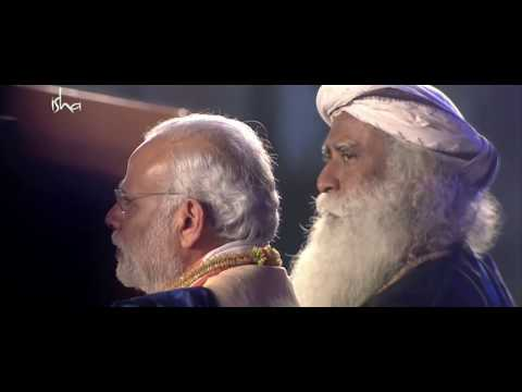 Adiyogi - Kailash kher live performance with PM Modi and Sadhguru