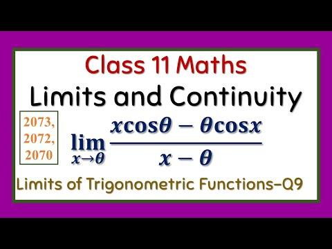 Limits and Continuity (HSEB 2073 Set Q No 9b, 2072): Limits