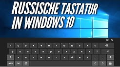 Russische Tastatur in Windows 10