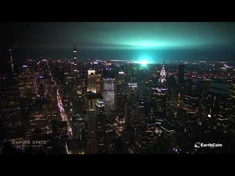 Electrical Arc Lights NYC Sky Blue