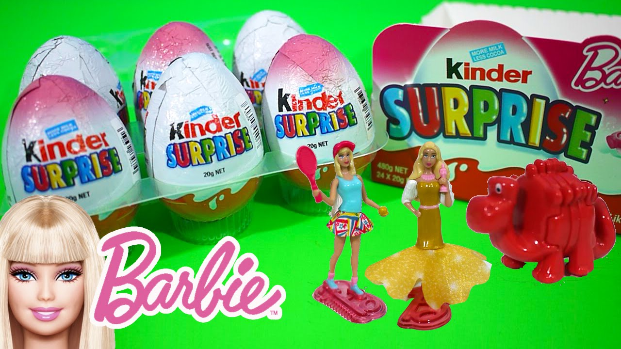Kinder surprise eggs barbie edition opening kids play o clock toys