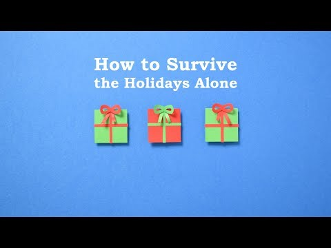 How to Survive the Holidays Alone | Loneliness at Christmas | Stop motion animation
