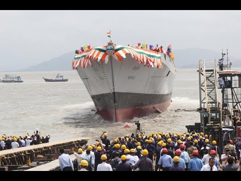 Indian Navy's Most Advanced Guided Missile Destroyer - Mormugao Launched