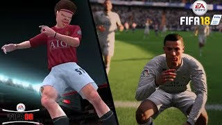 THE BEST & FUNNIEST CELEBRATIONS FROM FIFA 08 TO FIFA 18 !!!