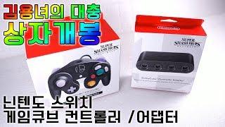 닌텐도 스위치 게임큐브 컨트롤러/어댑터 언박싱! 김용녀의 대충 상자개봉
