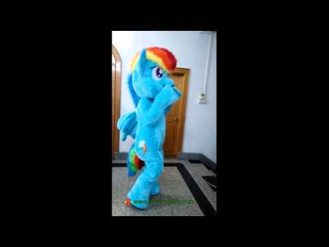 Adult Suit My Little Pony Rainbow Dash Mascot Costume