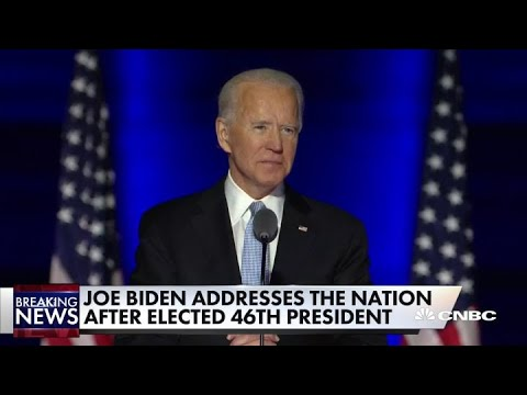 Watch Joe Biden's first speech to the nation as president-elect of the United States