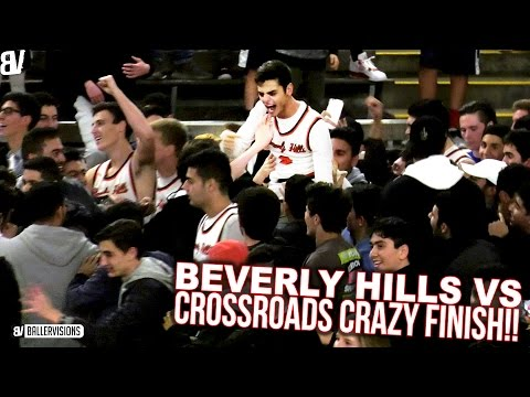 Beverly Hills Upsets Crossroads AT THE BUZZER! Clutch FINAL 10 SECONDS