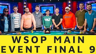 The Final Table of the 2019 World Series of Poker Main Event