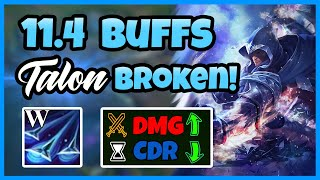 11.4 Buffs Make Talon So Broken! | Best Talon NA - League of Legend