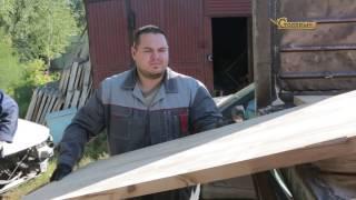 видео Перекрытие пола по деревянным балкам