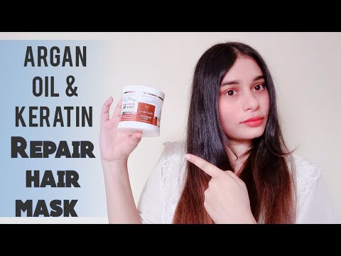 Argan oil & keratin repair hair mask  review