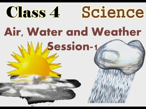 Class 4 Science Air Water And Weather Recorded Session 1 Youtube
