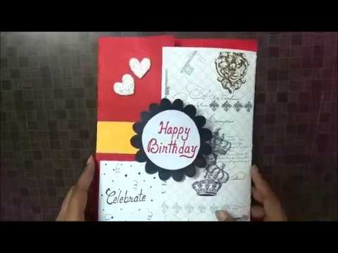 Lovely Birthday Greeting Card Idea For Boy Friend Complete