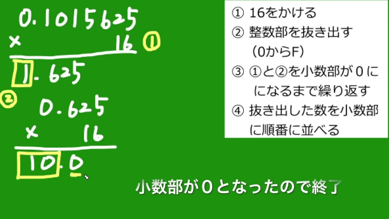 小数10進数から16進数(基数変換...