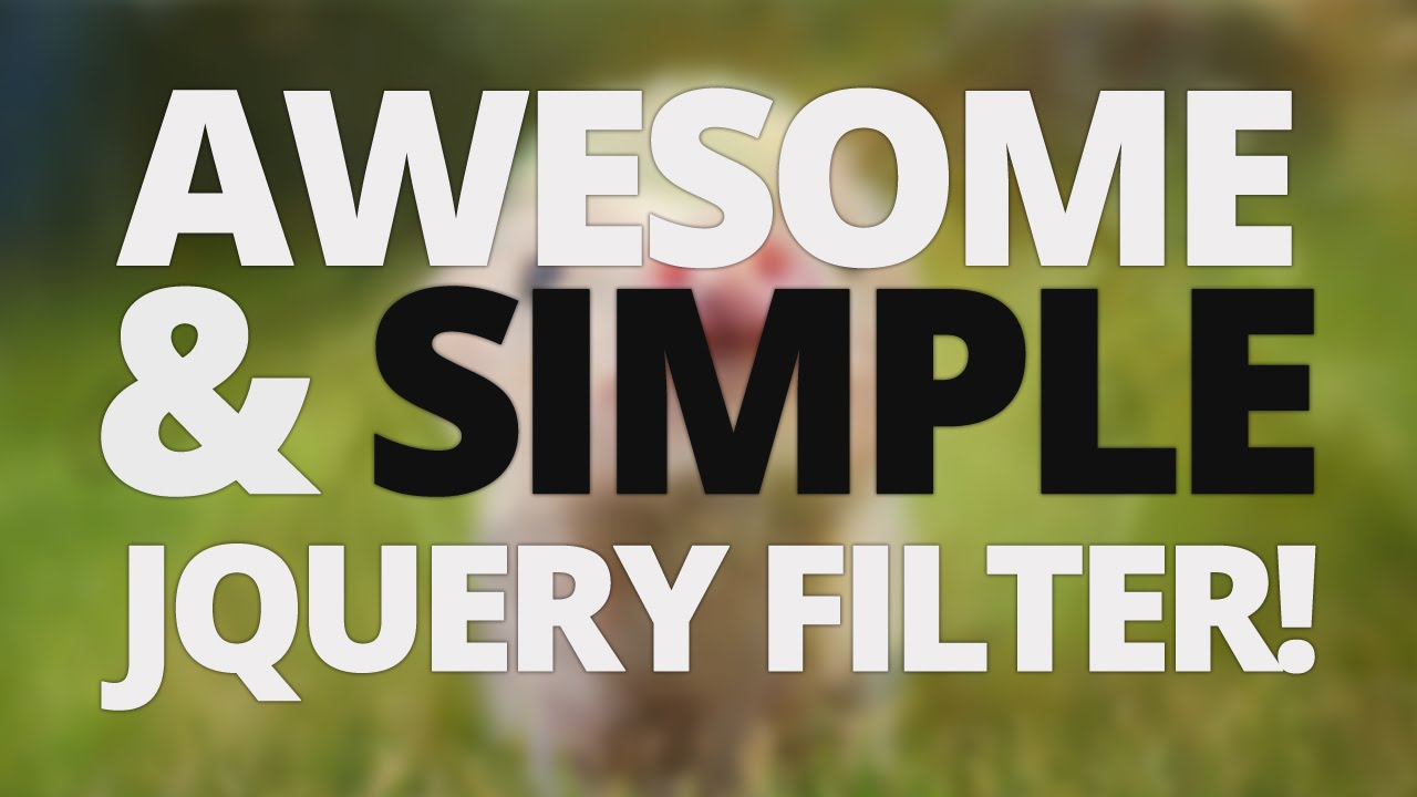 jQuery Category Filter [VOICE TUTORIAL]