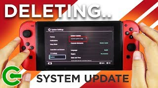 CANCELLING and DELETING the Nintendo Switch System Update