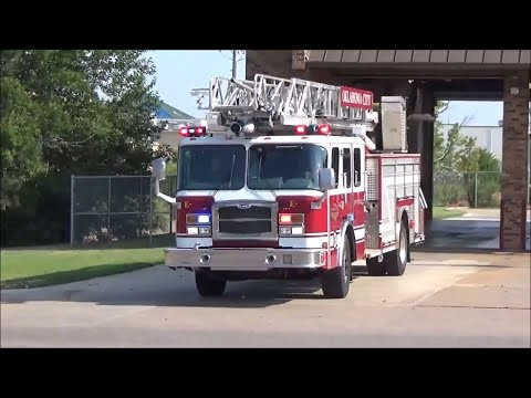 Oklahoma City Reserve Rescue Ladder 15 Responding (Horn)