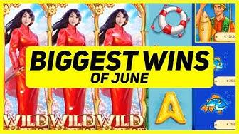SLOTS BIGGEST WINS OF JUNE! CASINO STREAM HIGHLIGHTS