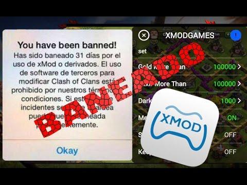 BANEADO POR XMOD | POR QUE NO USAR XMOD | CLASH OF CLANS