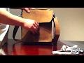 The world's best full grain, leather iPad shoulder messenger bag case