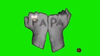 Green screen video background effect  I love you Papa Caroma Key