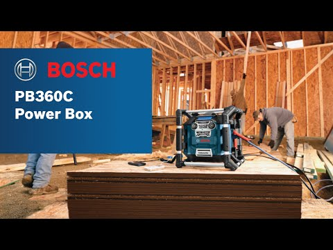Bosch Power Box™ PB360C Jobsite Radio/Charger/Digital Media Stereo with Bluetooth® Product Video