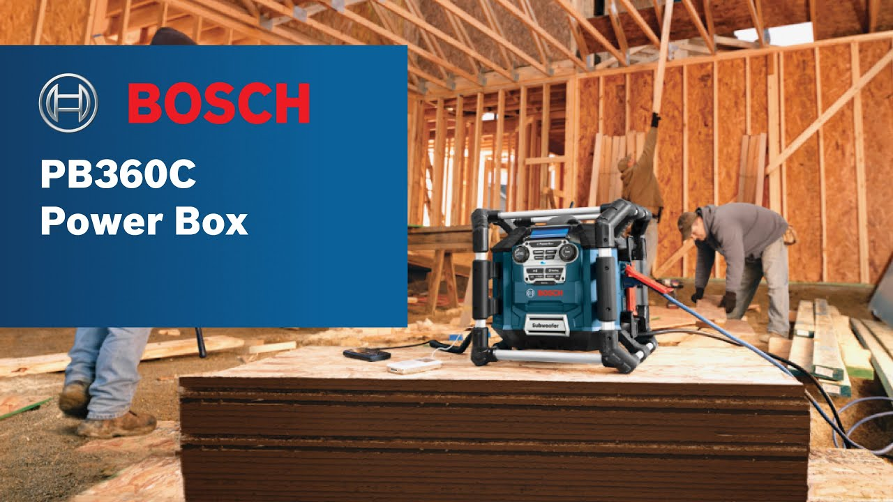 Bosch Power Box Pb360c Jobsite Radio Charger Digital Media Stereo Us Blaster Products Car Audio Wiring Kits Usb 6128 With Bluetooth Product Video Youtube