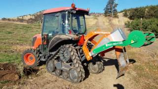 Ripping orchard to reduce compaction