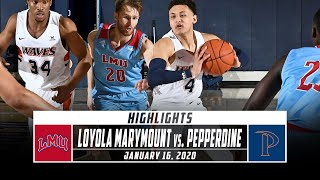 Loyola Marymount vs. Pepperdine Basketball Highlights (2019-20) | Stadium