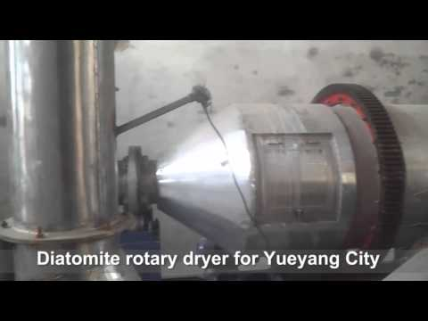 Diatomite drying production line