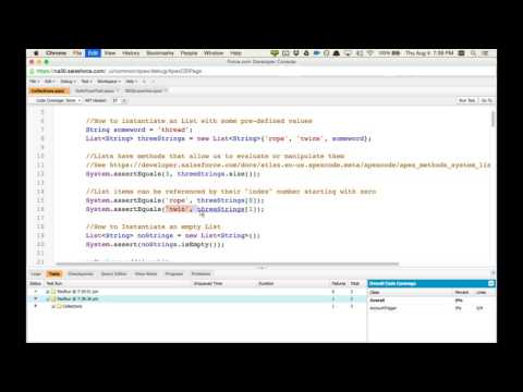 Apex Workshop Webinar 3: Collections - YouTube