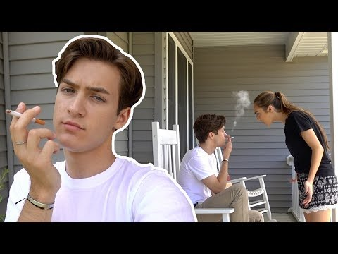 SMOKING CIGARETTE PRANK ON GIRLFRIEND!!