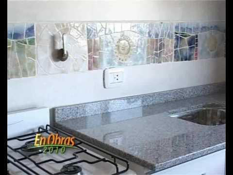 Cer mica en ba os y cocina olga tarditti en obras tv 20 - Ceramica para cocinas ...