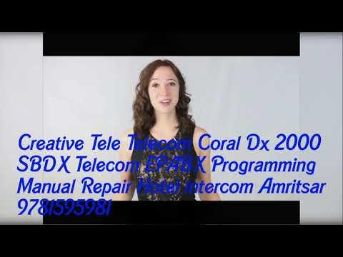 Creative Tele Coral Telecom Dx 2000 SBDX EPABX Programming Repair Hotel Intercom Amritsar 9781595981