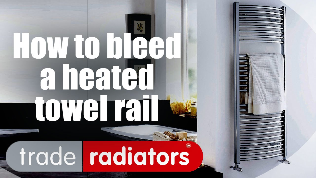How to bleed a heated towel rail youtube for Bleeding when going to the bathroom